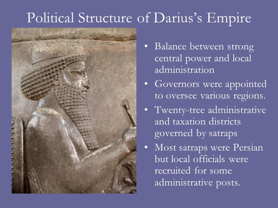 Political Structure of Darius's Empire