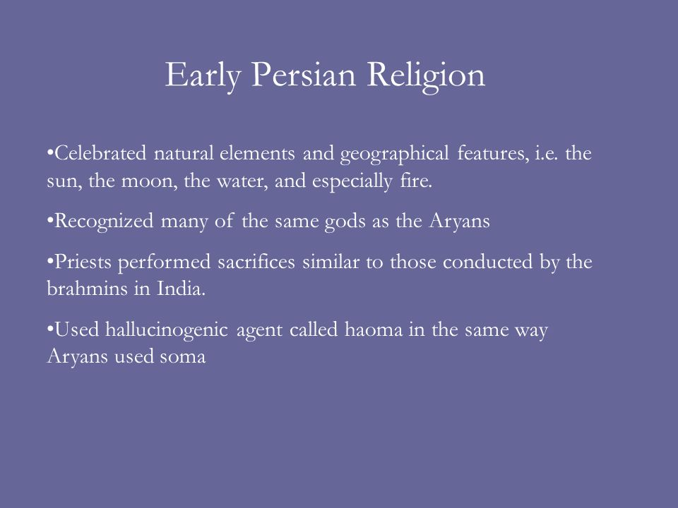 Early Persian Religion