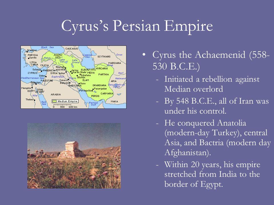 Cyrus's Persian Empire