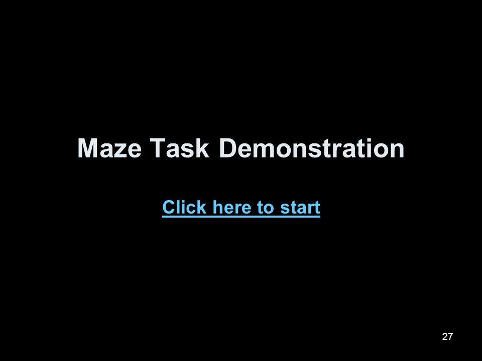 Maze Task Demonstration Click here to start