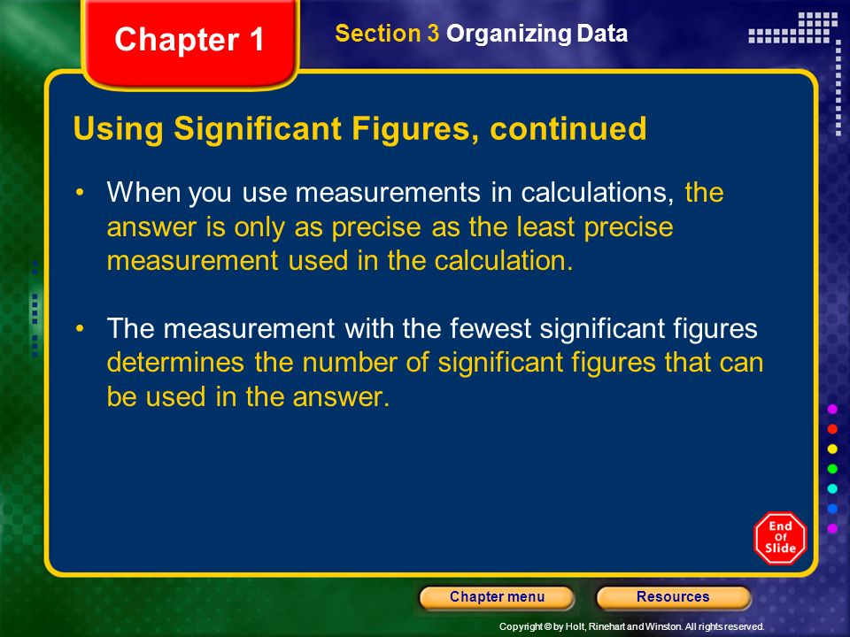 Using Significant Figures, continued