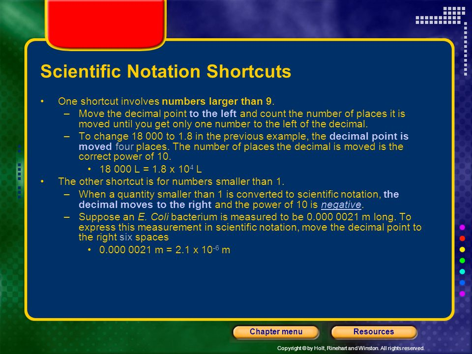 Scientific Notation Shortcuts