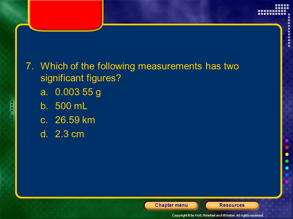 Which of the following measurements has two significant figures