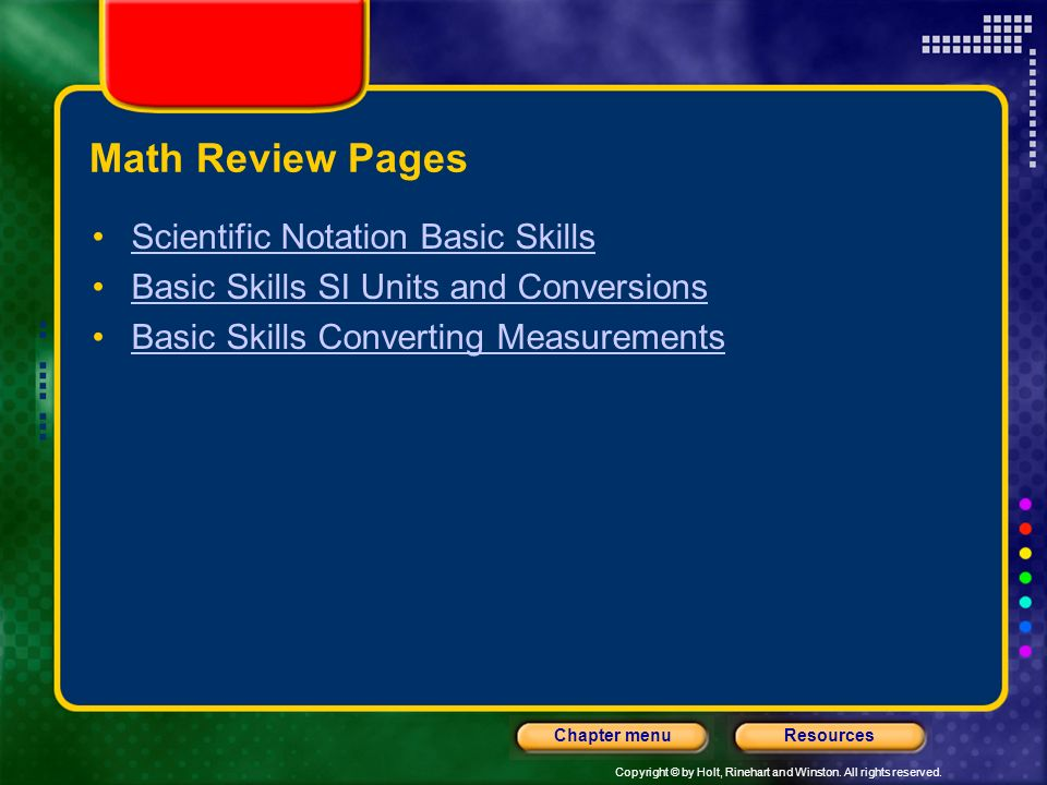 Math Review Pages Scientific Notation Basic Skills