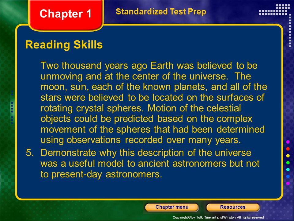 Chapter 1 Reading Skills