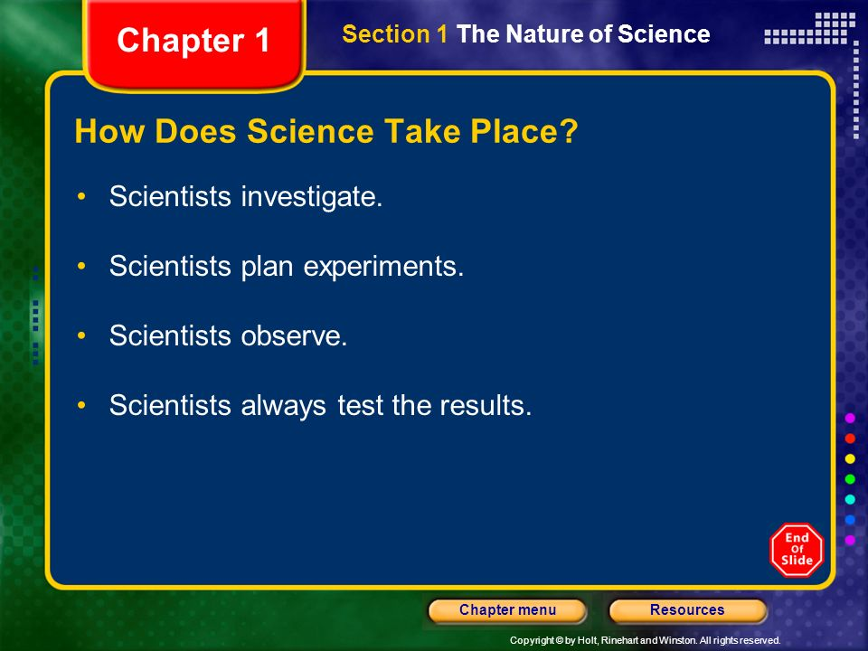 How Does Science Take Place