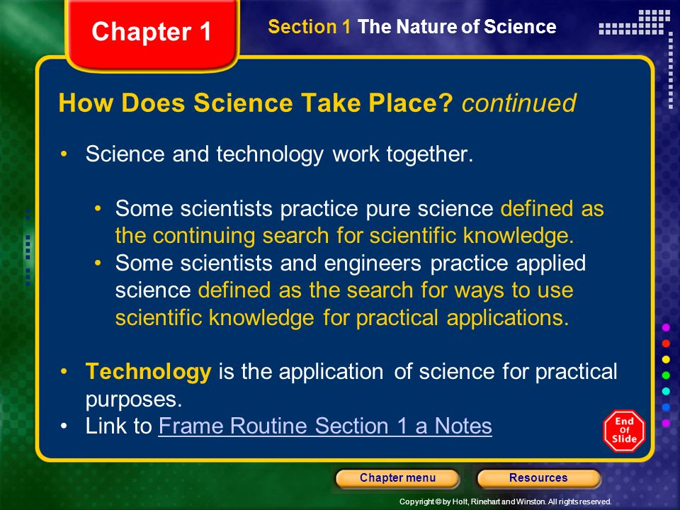 How Does Science Take Place continued