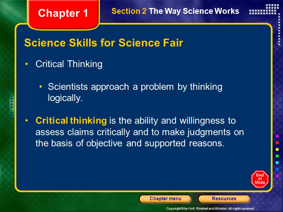 Science Skills for Science Fair