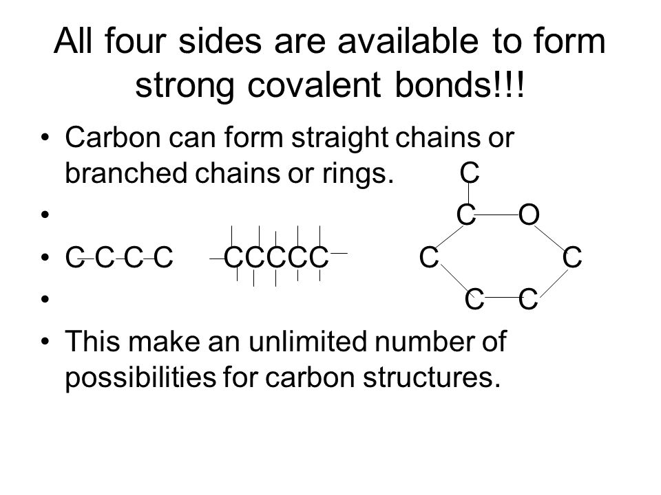 All four sides are available to form strong covalent bonds!!!