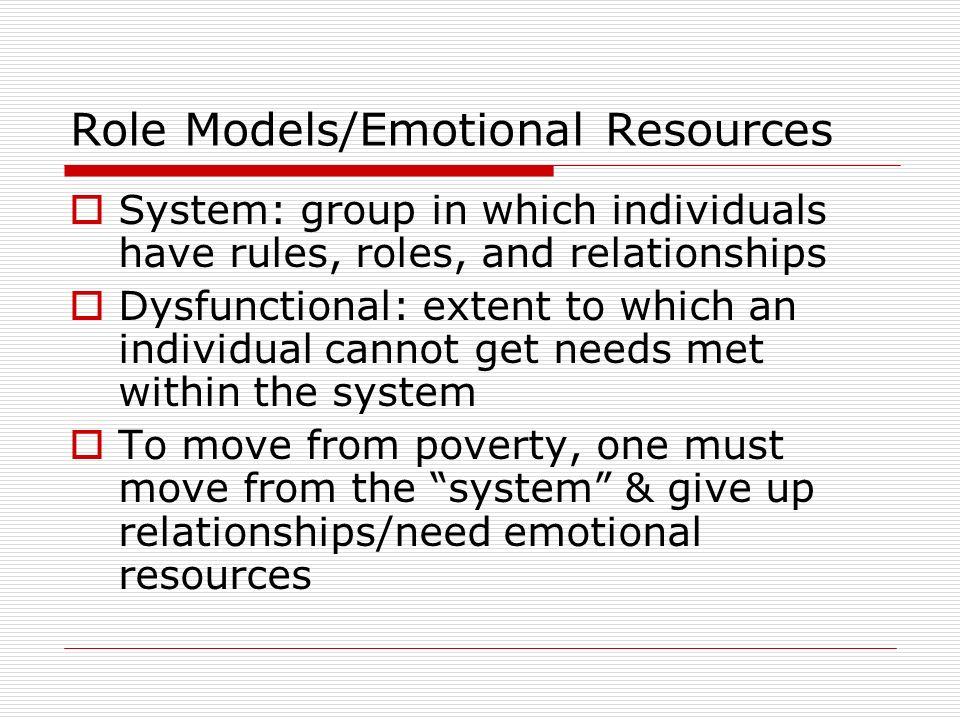 Role Models/Emotional Resources