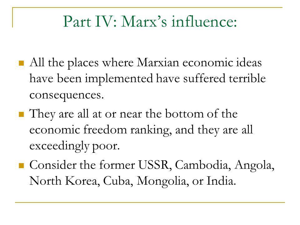 Part IV: Marx's influence: