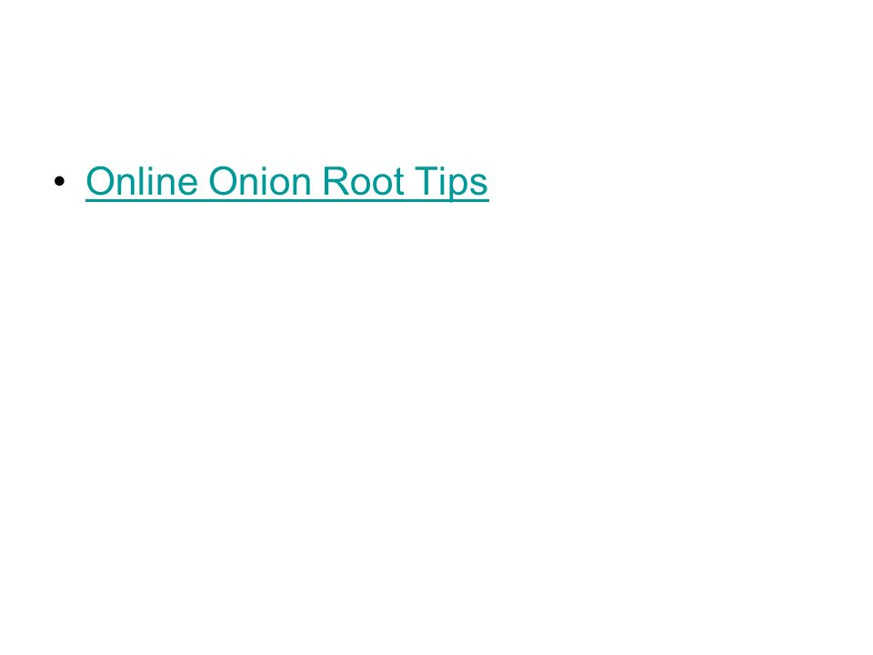 Online Onion Root Tips