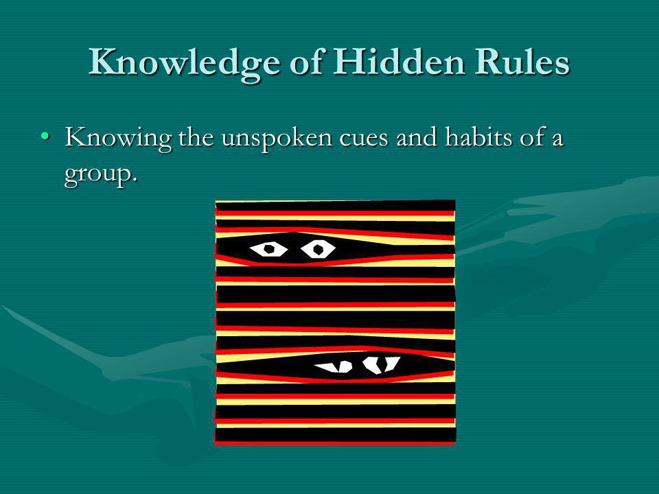 Knowledge of Hidden Rules