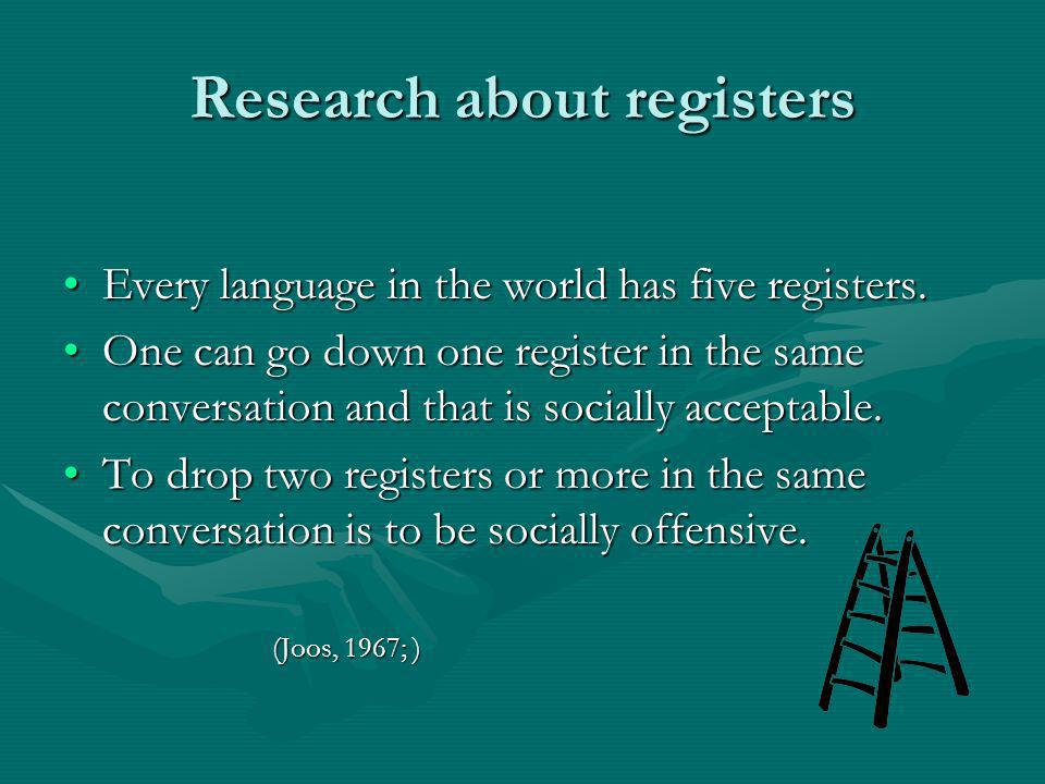 Research about registers