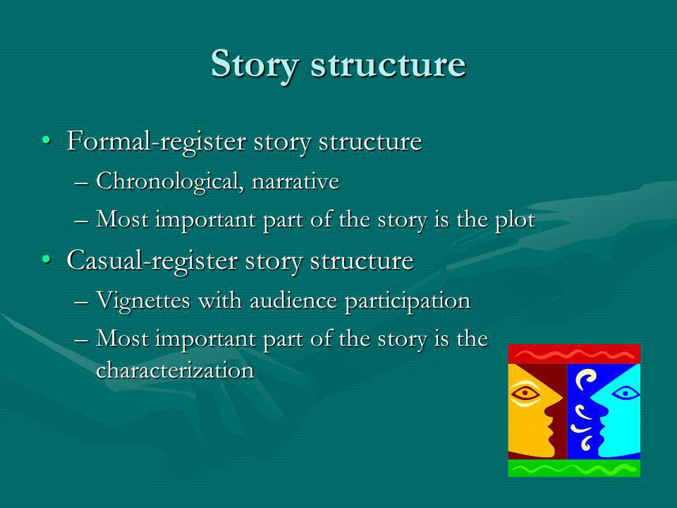 Story structure Formal-register story structure