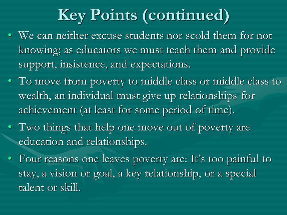 Key Points (continued)