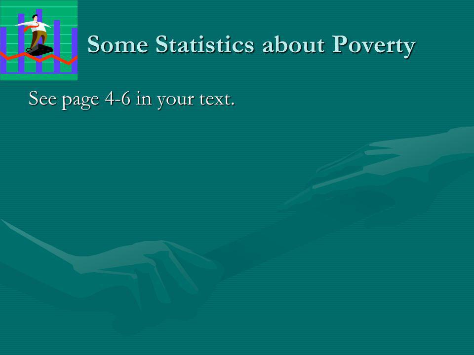 Some Statistics about Poverty