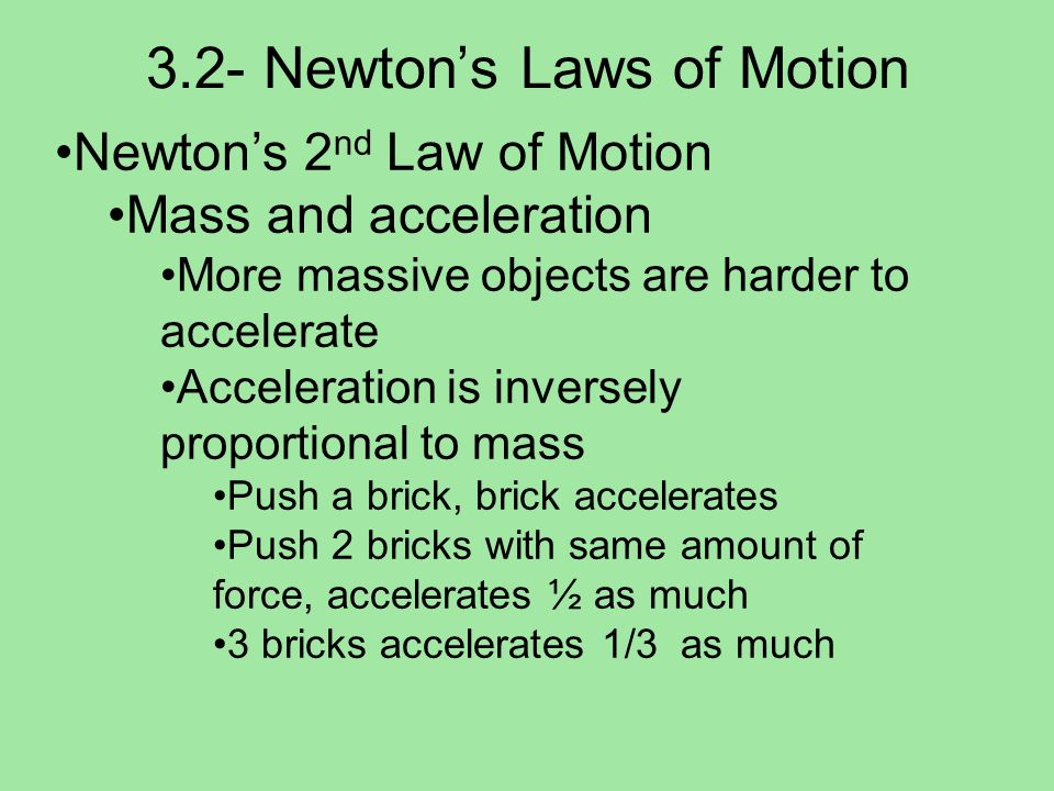3.2- Newton's Laws of Motion