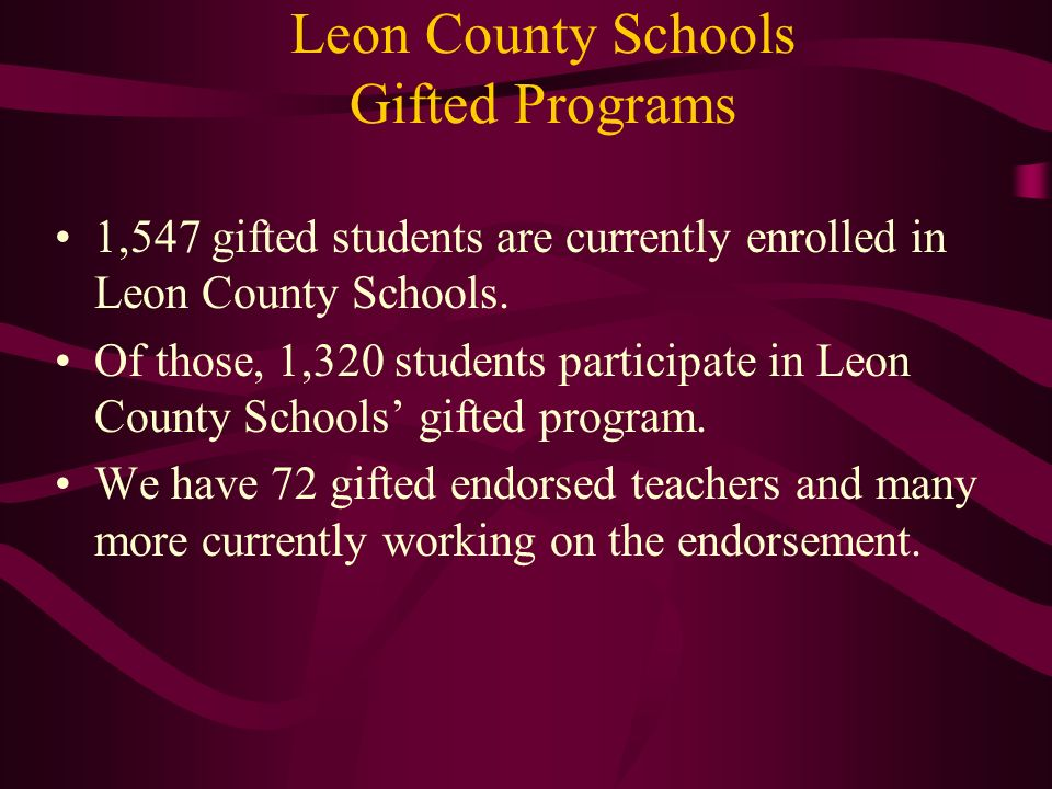 Leon County Schools Gifted Programs