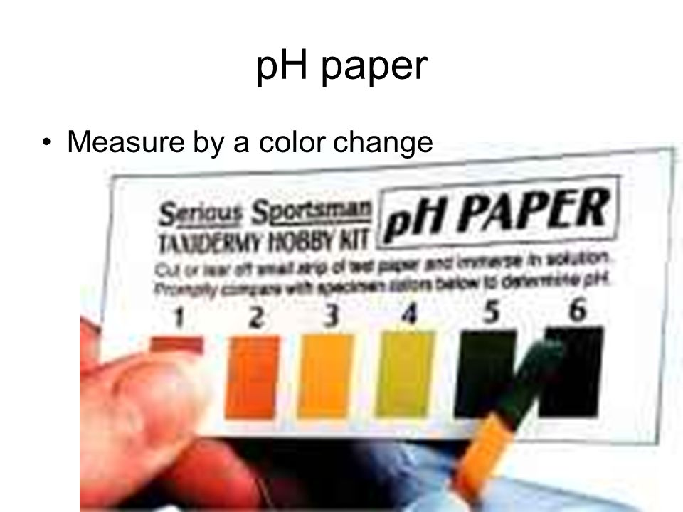 pH paper Measure by a color change