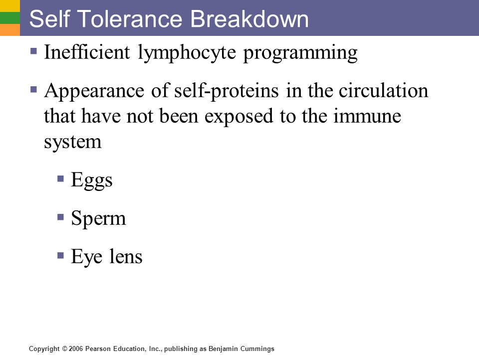 Self Tolerance Breakdown