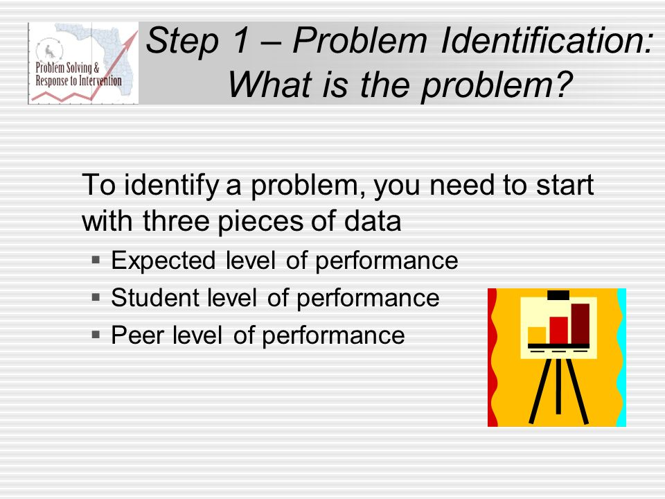 Step 1 – Problem Identification: What is the problem