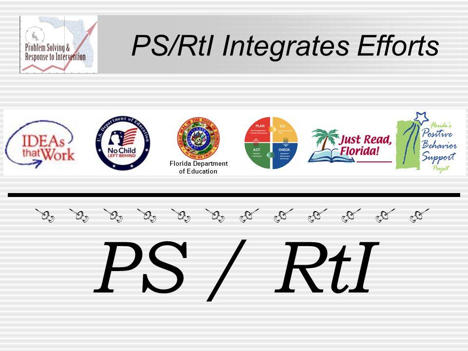 PS/RtI Integrates Efforts