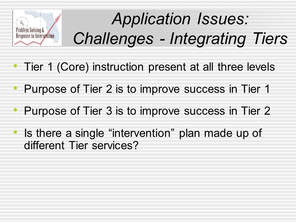 Application Issues: Challenges - Integrating Tiers