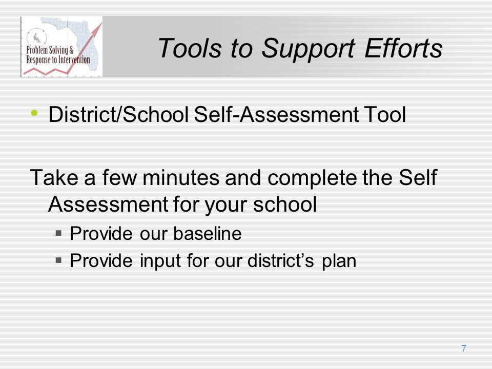 Tools to Support Efforts