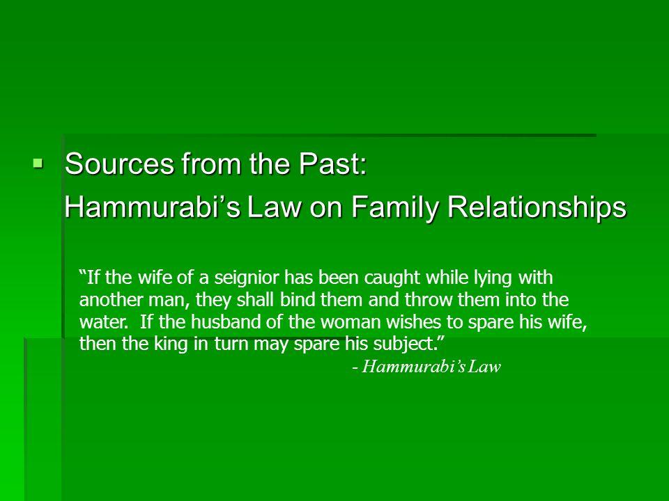 Hammurabi's Law on Family Relationships