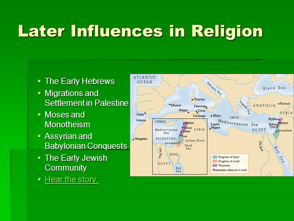 Later Influences in Religion