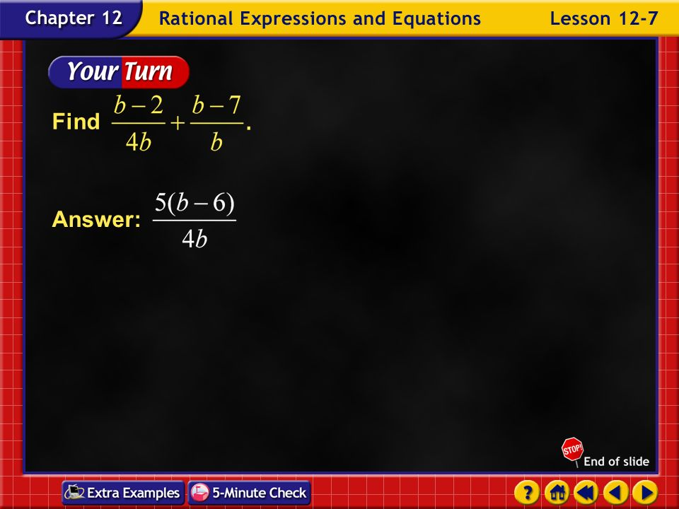 Find Answer: Example 7-3c