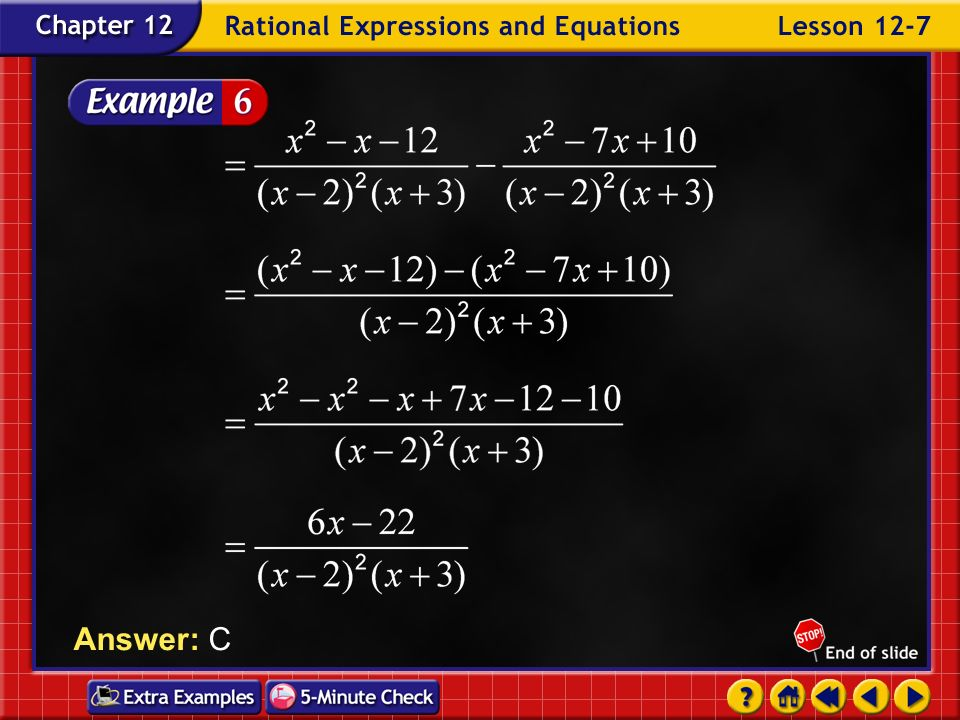 Answer: C Example 7-6d