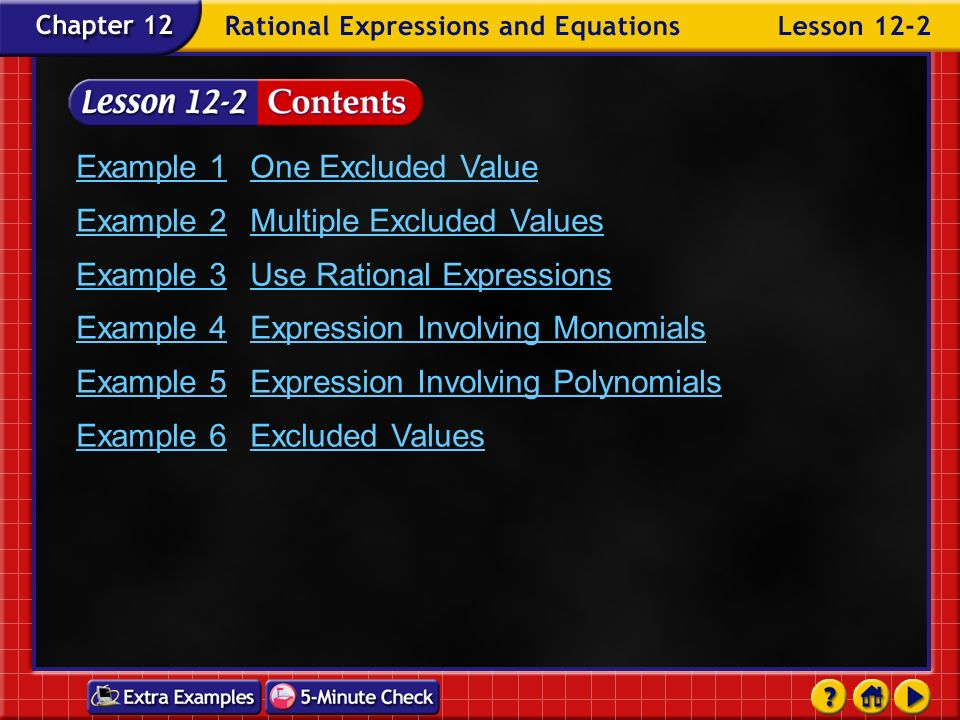 Example 1 One Excluded Value Example 2 Multiple Excluded Values