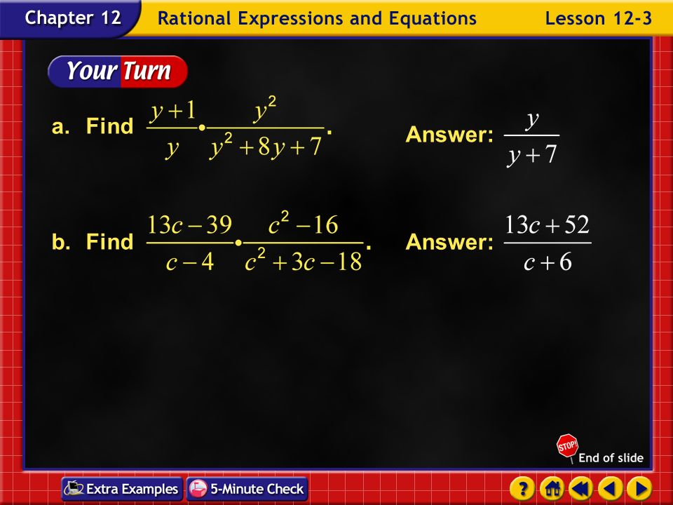 a. Find b. Find Answer: Answer: Example 3-2b