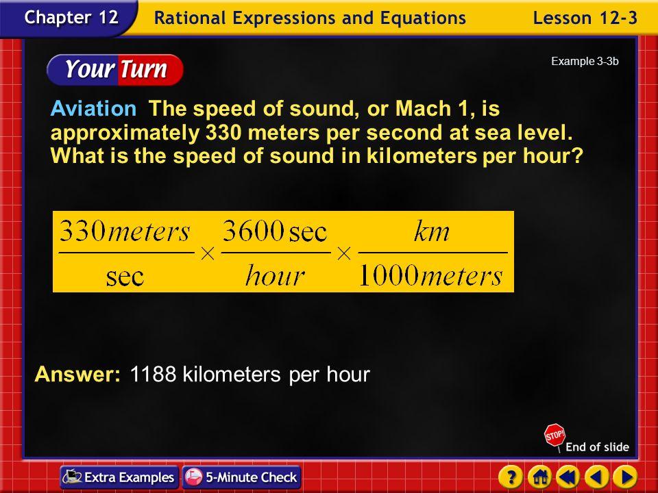 Answer: 1188 kilometers per hour