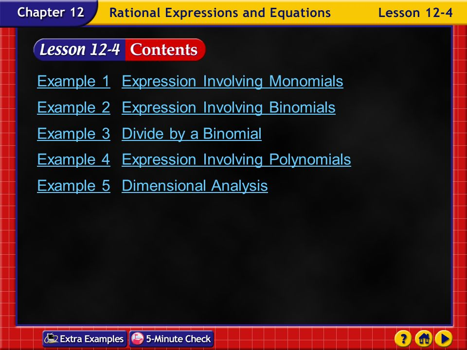 Example 1 Expression Involving Monomials