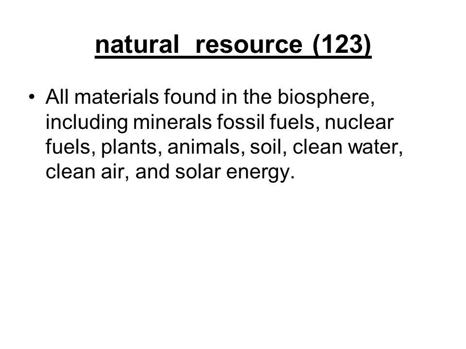 natural resource (123)