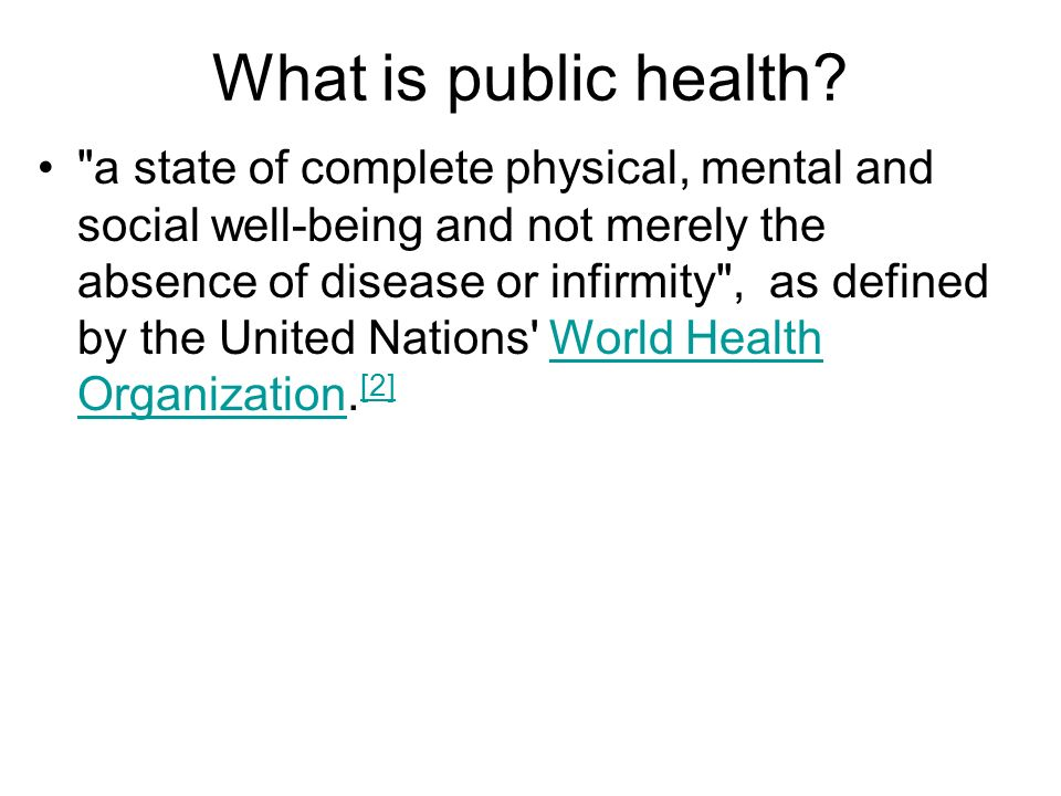 What is public health