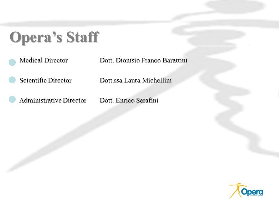 Opera's Staff Medical Director Dott. Dionisio Franco Barattini