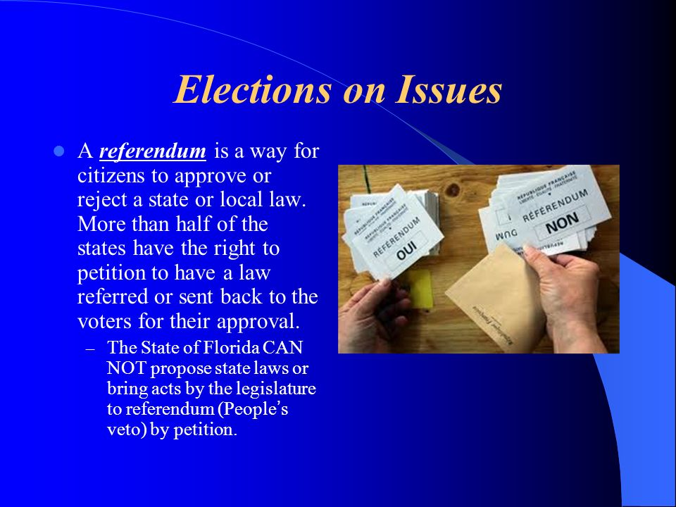 Elections on Issues