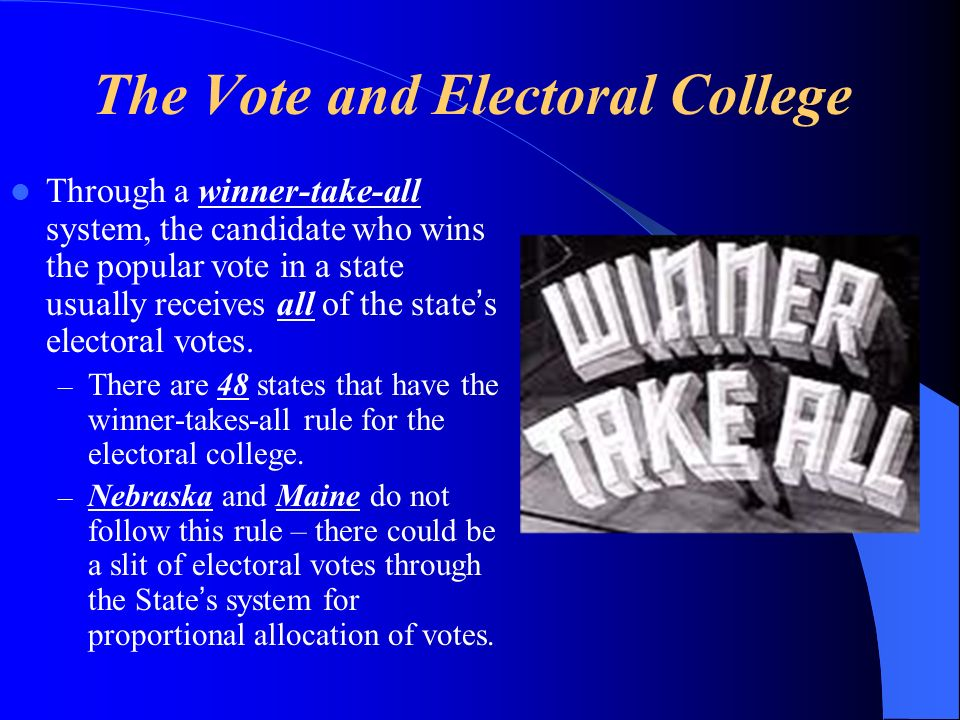 The Vote and Electoral College