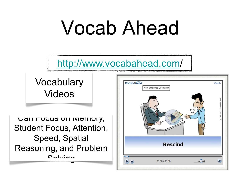 Vocab Ahead http://www.vocabahead.com/ Vocabulary Videos