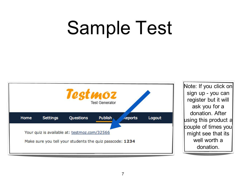 Sample Test