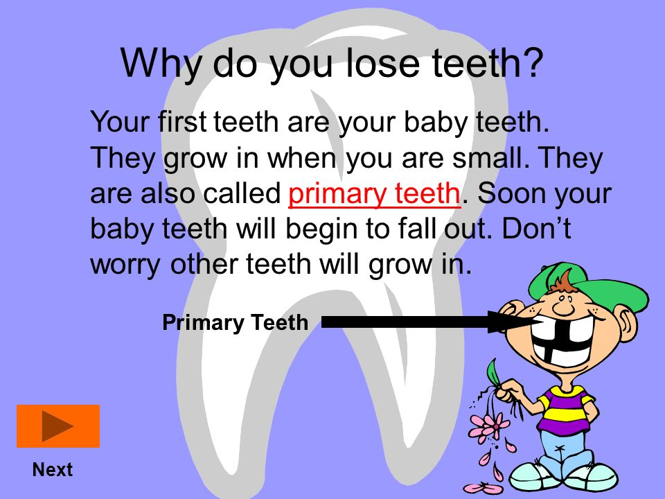 Why do you lose teeth