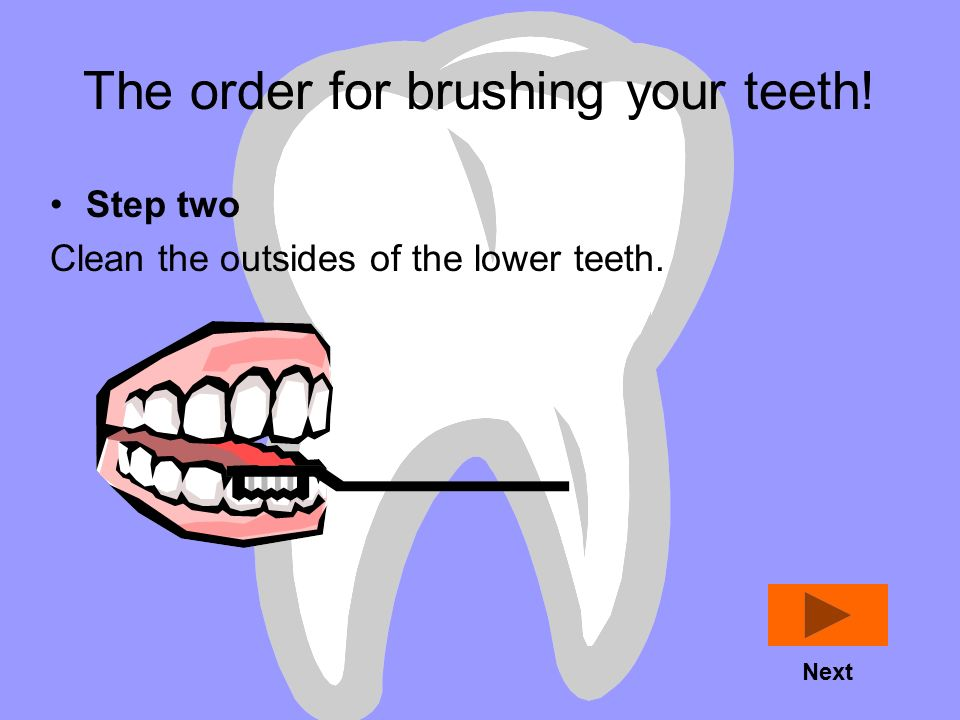 The order for brushing your teeth!