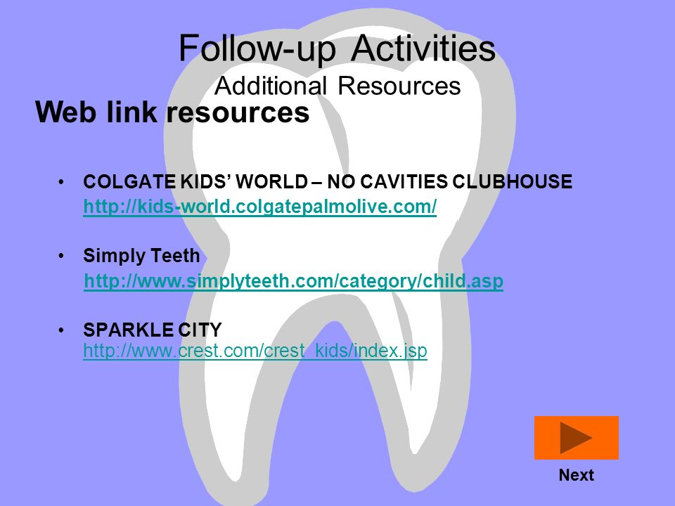 Follow-up Activities Additional Resources