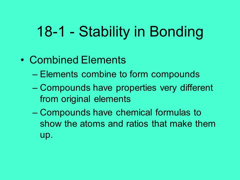 18-1 - Stability in Bonding