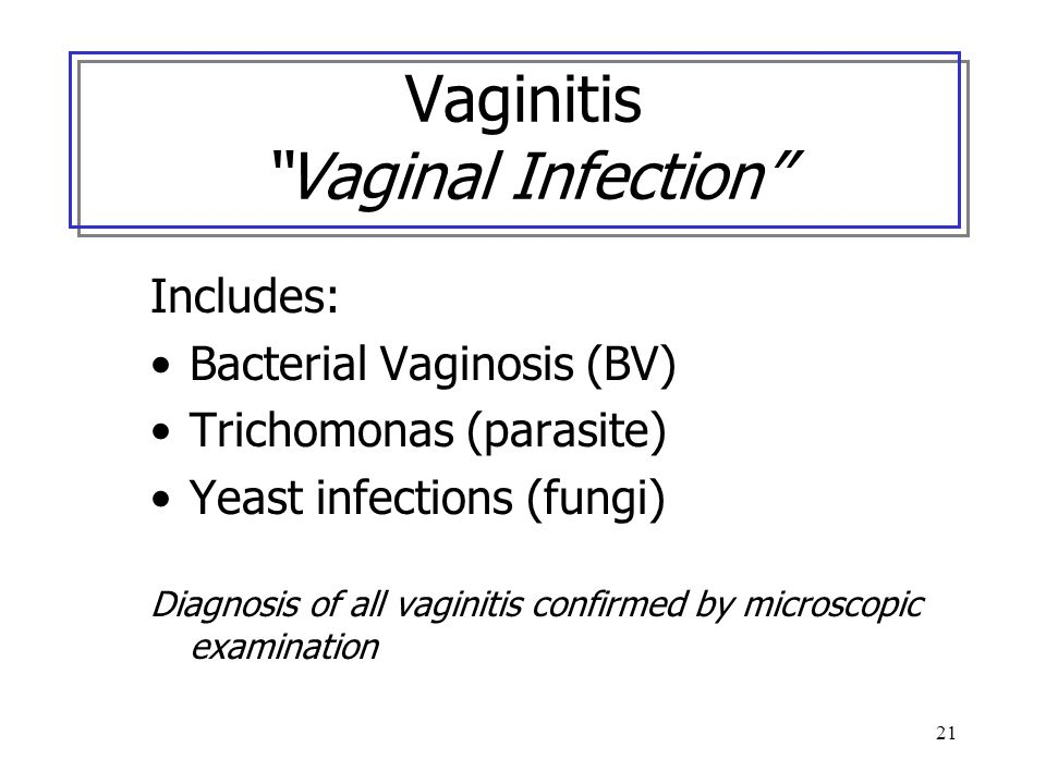 Vaginitis Vaginal Infection