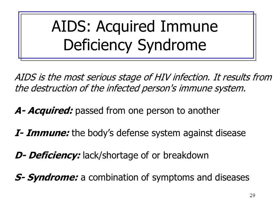 AIDS: Acquired Immune Deficiency Syndrome